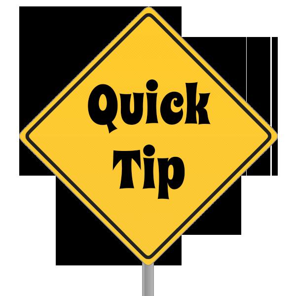 tip sign