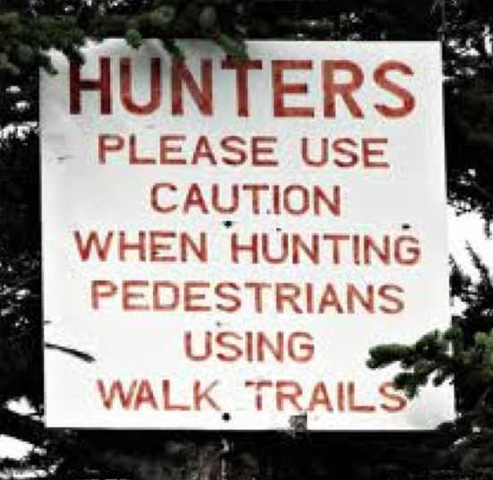 Sign with punctuation errors