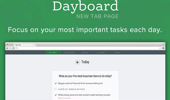 dayboard screenshot
