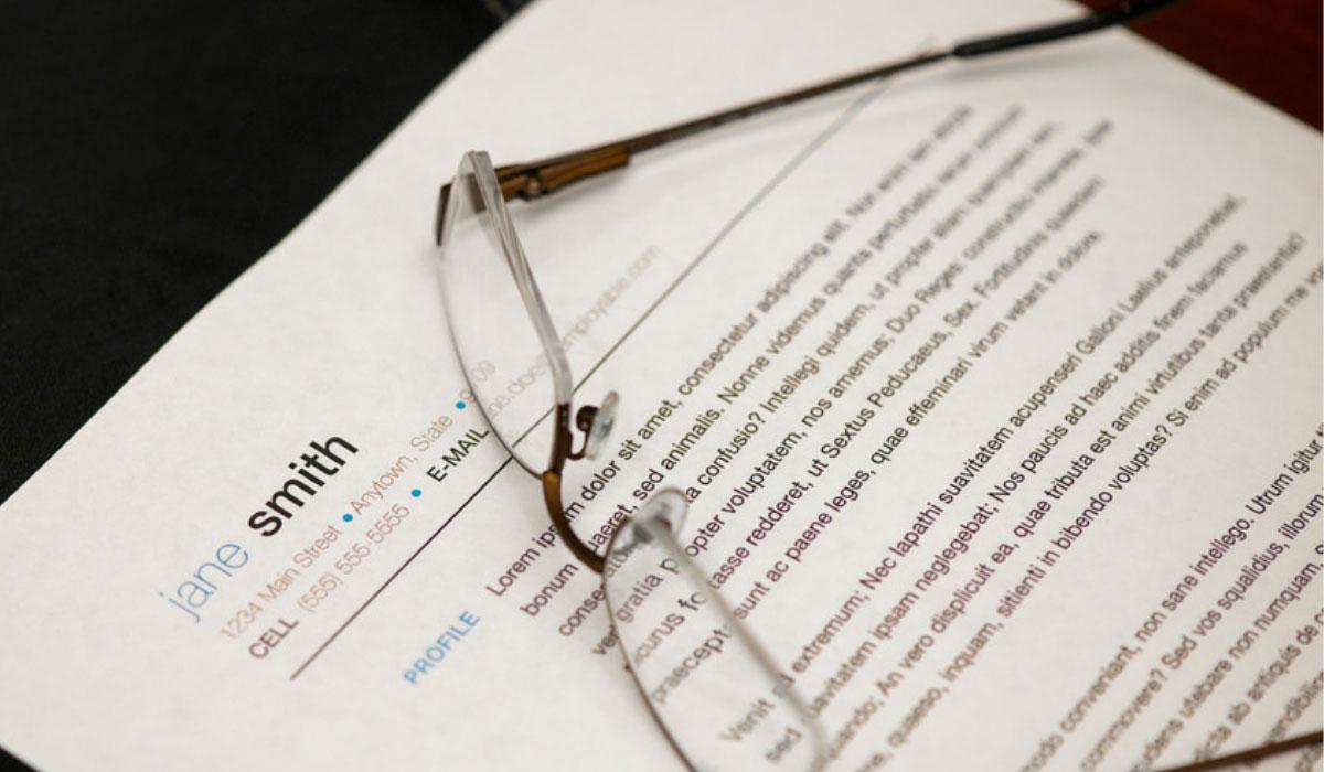 Sample resume with Lorem ipsum writing.